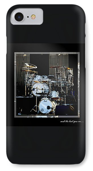 Drum iPhone 8 Case - And The Beat Goes On.... by Holly Kempe
