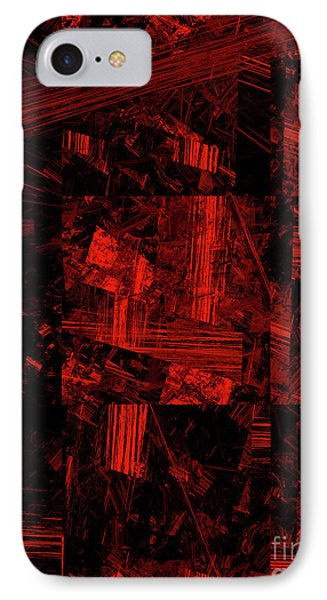 IPhone Case featuring the digital art Andee Design Abstract 80 2017 by Andee Design
