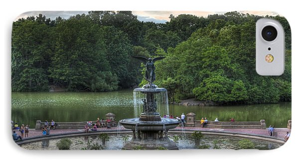 Angel Of The Waters Fountain  Bethesda IPhone Case