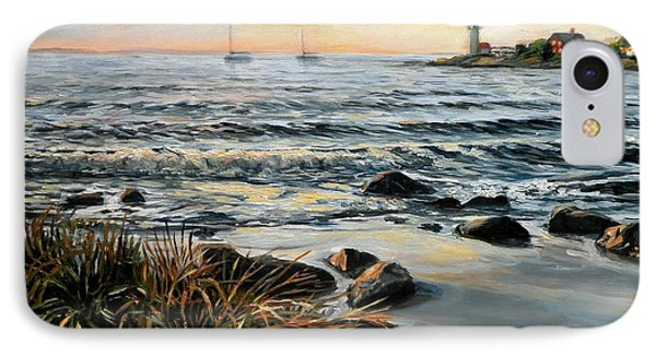 Annisquam Beach And Lighthouse IPhone Case
