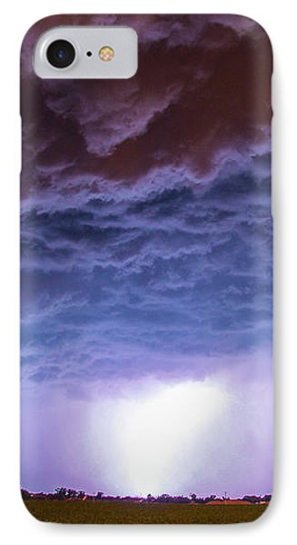 Nebraskasc iPhone 8 Case - Another Impressive Nebraska Night Thunderstorm 007 by NebraskaSC