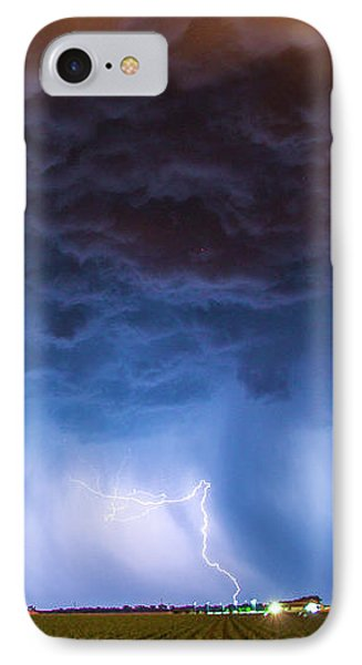 Nebraskasc iPhone 8 Case - Another Impressive Nebraska Night Thunderstorm 008/ by NebraskaSC