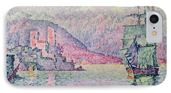 Impressionism iPhone 8 Case - Antibes by Paul Signac