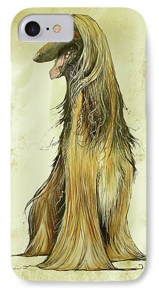 Antique Afghan Hound  IPhone Case