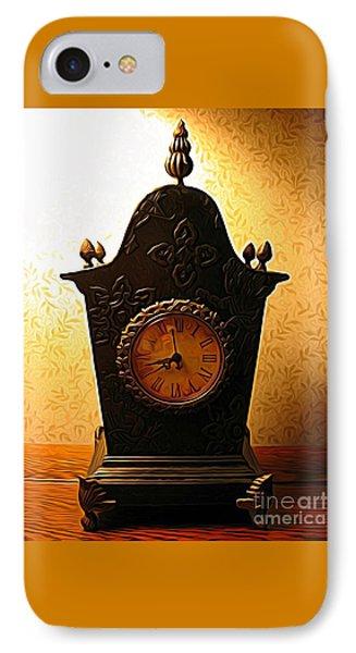 Antique Clock Expressionist Effect IPhone Case
