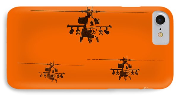 Helicopter iPhone 8 Case - Apache Dawn by Pixel  Chimp