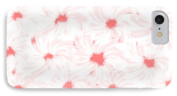 'apricot And White Flower Abstract 2' IPhone Case