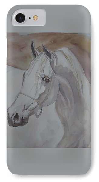 Arab Stallion In The Desert IPhone Case