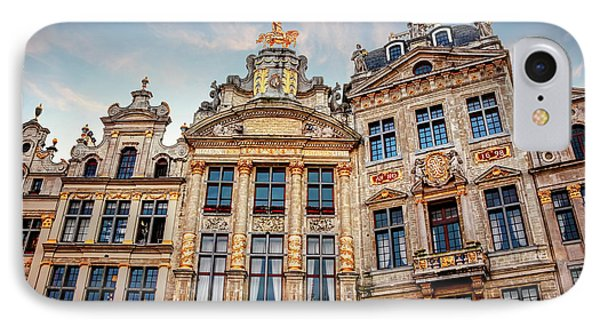 Architecture Of The Grand Place Brussels  IPhone Case
