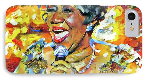 Tribute iPhone 8 Case - Aretha Franklin Tribute Portrait by Yury Malkov