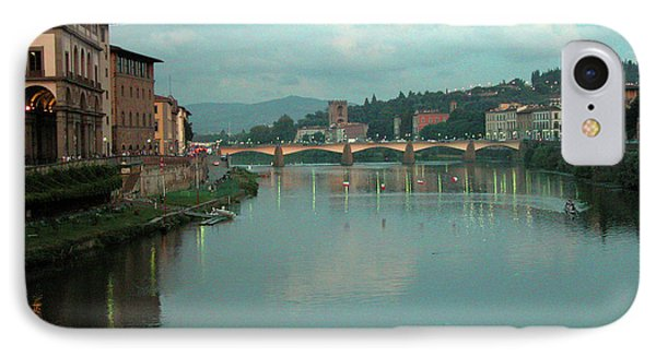 IPhone Case featuring the photograph Arno River, Florence, Italy by Mark Czerniec