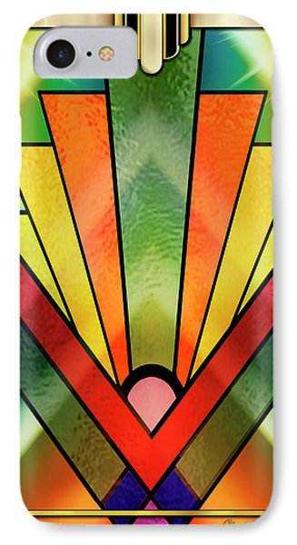 IPhone Case featuring the digital art Art Deco Chevron 2 V by Chuck Staley