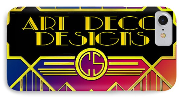 IPhone Case featuring the digital art Art Deco Designs by Chuck Staley