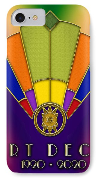 IPhone Case featuring the digital art Art Deco Fan 6 Titled by Chuck Staley