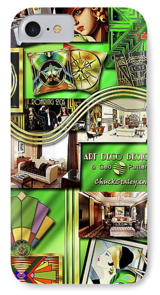 IPhone Case featuring the digital art Art Deco Mood Board by Chuck Staley