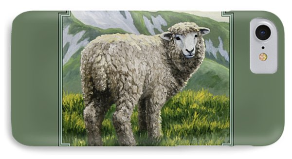 Sheep iPhone 8 Case - Highland Ewe by Crista Forest