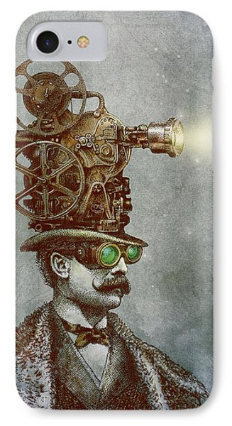 Magician iPhone 8 Case - The Projectionist by Eric Fan