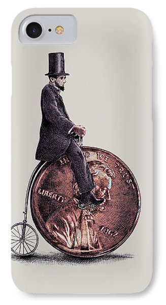 Transportation iPhone 8 Case - Penny Farthing by Eric Fan