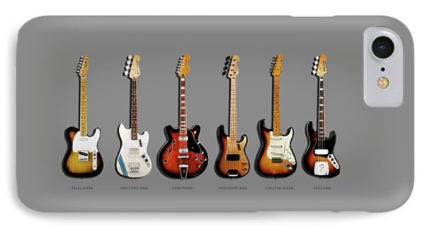 Music iPhone 8 Case - Fender Guitar Collection by Mark Rogan