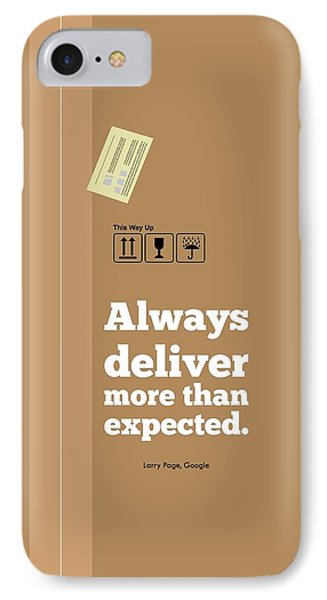 Always Deliver More  Than Expected Inspirational Quotes Poster IPhone Case