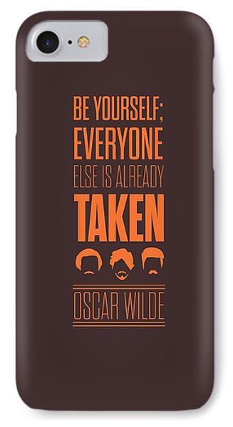 Oscar Wilde Quote Typographic Art Print Poster IPhone Case