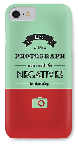Life Inspirational Quotes Typography Quotes Poster IPhone Case