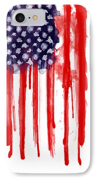American iPhone 8 Case - American Spatter Flag by Nicklas Gustafsson