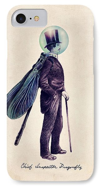 Animals iPhone 8 Case - Inspector Dragonfly by Eric Fan