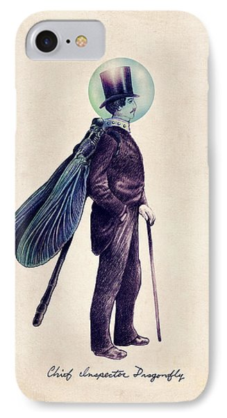 Whimsical iPhone 8 Case - Inspector Dragonfly by Eric Fan