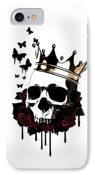 England iPhone 8 Case - El Rey De La Muerte by Nicklas Gustafsson