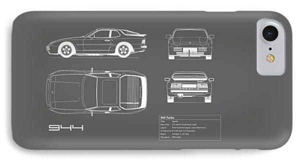 Porsche 944 Blueprint IPhone Case