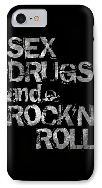 Rock And Roll iPhone 8 Case - Sex Drugs And Rock N Roll by Zapista