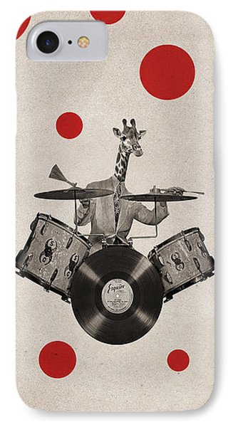 Drum iPhone 8 Case - Animal19 by Francois Brumas