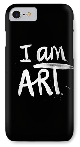 Wood iPhone 8 Case - I Am Art- Painted by Linda Woods