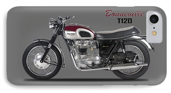 Transportation iPhone 8 Case - Triumph Bonneville T120 1968 by Mark Rogan