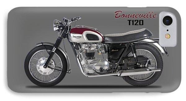 Transportation iPhone 8 Case - Triumph Bonneville T120 1968 by Mark Rogan