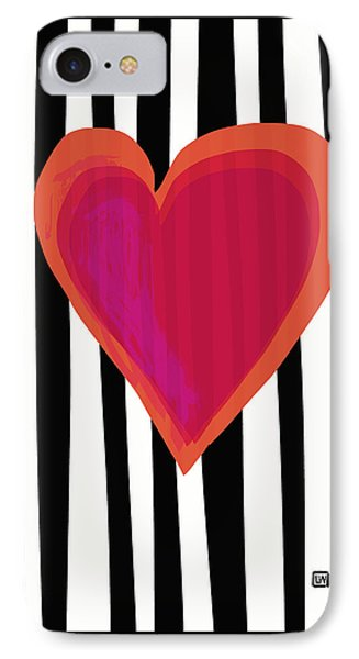 IPhone Case featuring the painting Here Is My Heart by Lisa Weedn