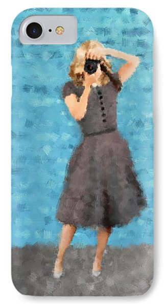 IPhone Case featuring the digital art Natalie by Nancy Levan