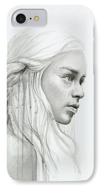 Dragon iPhone 8 Case - Daenerys Mother Of Dragons by Olga Shvartsur