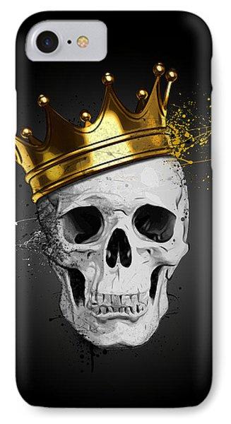 England iPhone 8 Case - Royal Skull by Nicklas Gustafsson