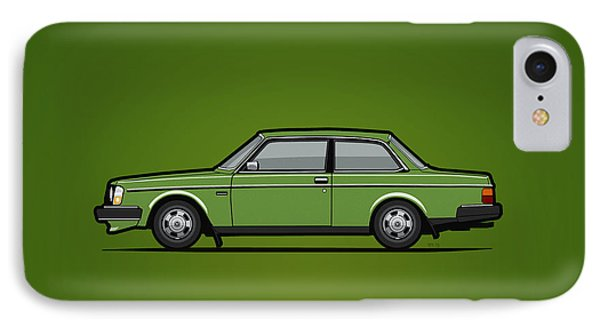 Volvo 242 Brick Coupe 200 Series Green IPhone Case