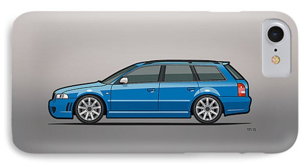 Audi Rs4 A4 Avant Quattro B5 Type 8d Wagon Nogaro Blue IPhone Case
