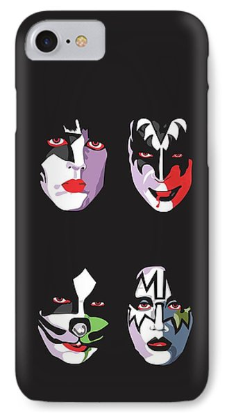 Music iPhone 8 Case - Kiss by Troy Arthur Graphics