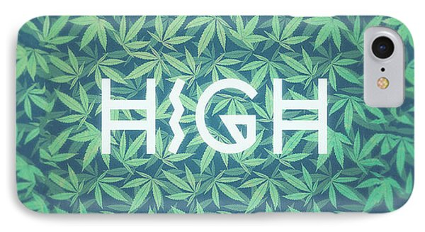 High Typo  Cannabis   Hemp  420  Marijuana   Pattern IPhone Case