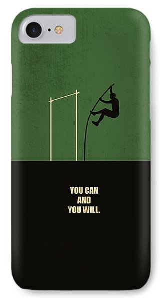 You Can And You Will Life Inspirational Quotes Poster IPhone Case