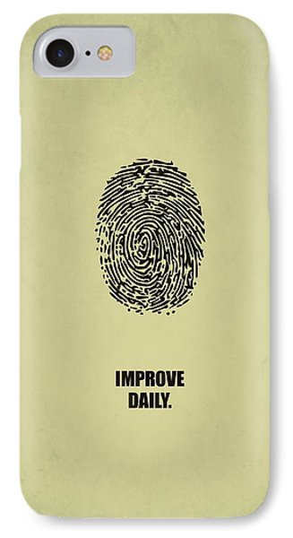 Improve Daily Business Quotes Poster IPhone Case