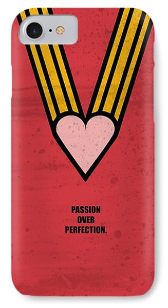 Passion Over Perfection Business Quotes Poster IPhone Case