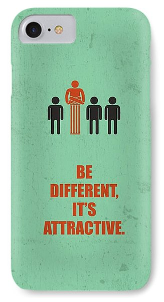 Be Different It's Attractive Business Quotes Poster IPhone Case