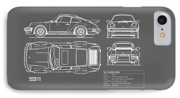 Car blueprint iphone 8 cases fine art america car blueprint iphone 8 case porsche 911 turbo blueprint gray by mark rogan malvernweather Images