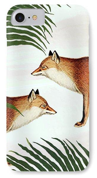 Red Fox Pair IPhone Case